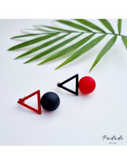 """Earrings """"Figures"""" red/black"""