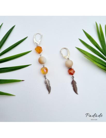 "Earrings ""Sunny evening"""