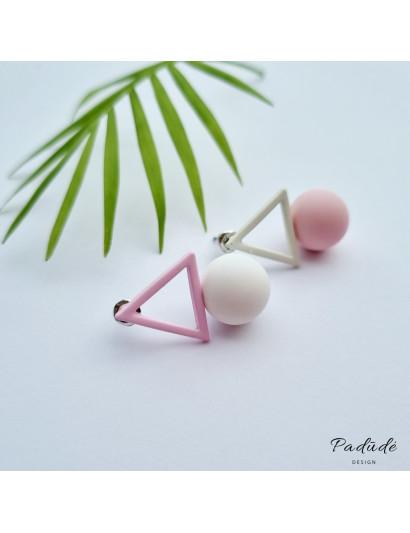 "Earrings ""Figures"" pink/white"