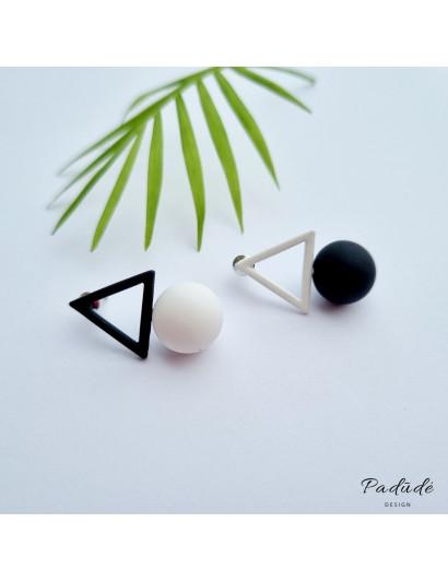 """Earrings """"Figures"""" black/white"""